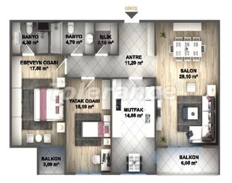 Luxury apartments in Istanbul in a project profitable for investment from the developer - 27535 | Tolerance Homes