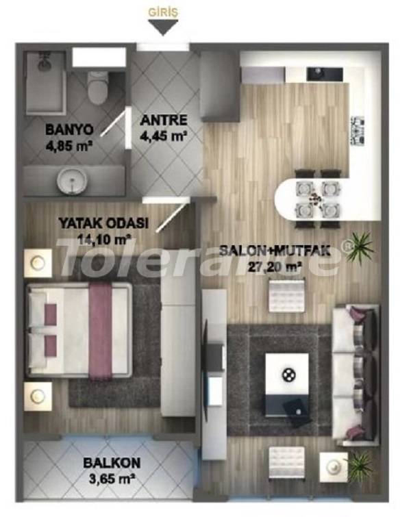 Luxury apartments in Istanbul in a project profitable for investment from the developer - 27531 | Tolerance Homes