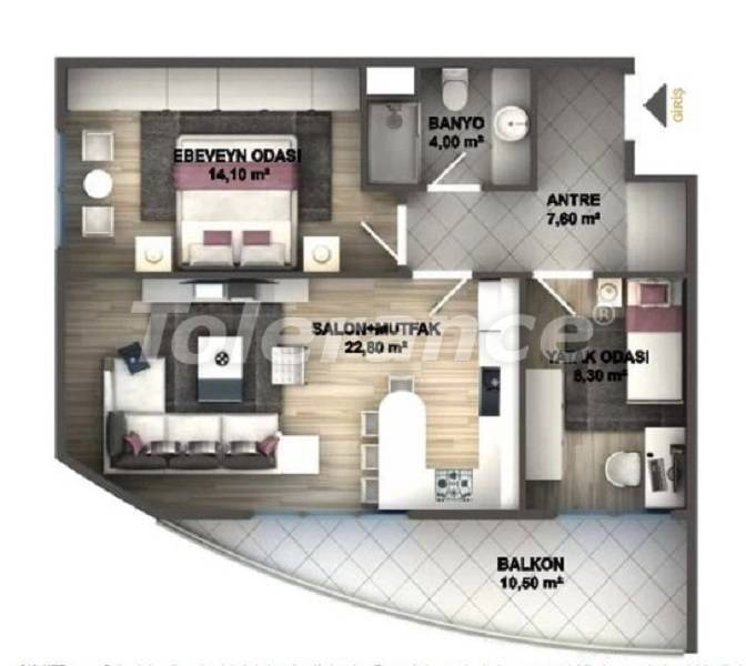 Luxury apartments in Istanbul in a project profitable for investment from the developer - 27533 | Tolerance Homes