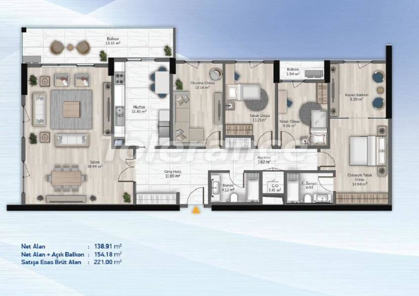 Spacious apartments in Kucukcekmece, Istanbul from the developer with installments - 27716   Tolerance Homes