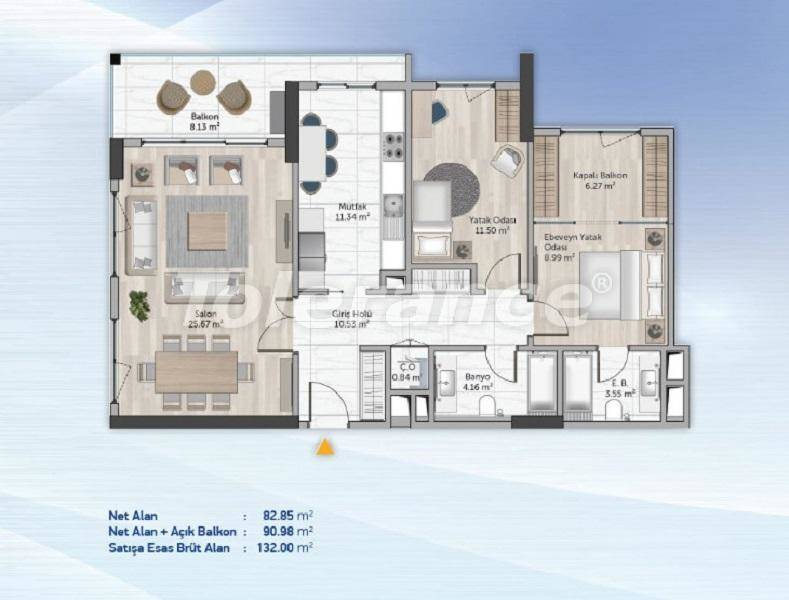 Spacious apartments in Kucukcekmece, Istanbul from the developer with installments - 27711   Tolerance Homes