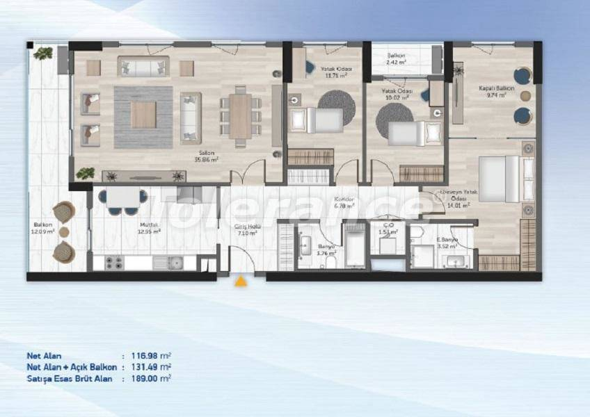 Spacious apartments in Kucukcekmece, Istanbul from the developer with installments - 27714   Tolerance Homes