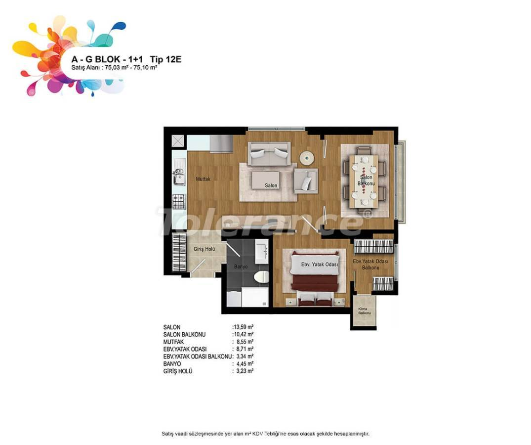 New apartments in Bahcesehir, Istanbul with installments up to 50 months - 36160   Tolerance Homes