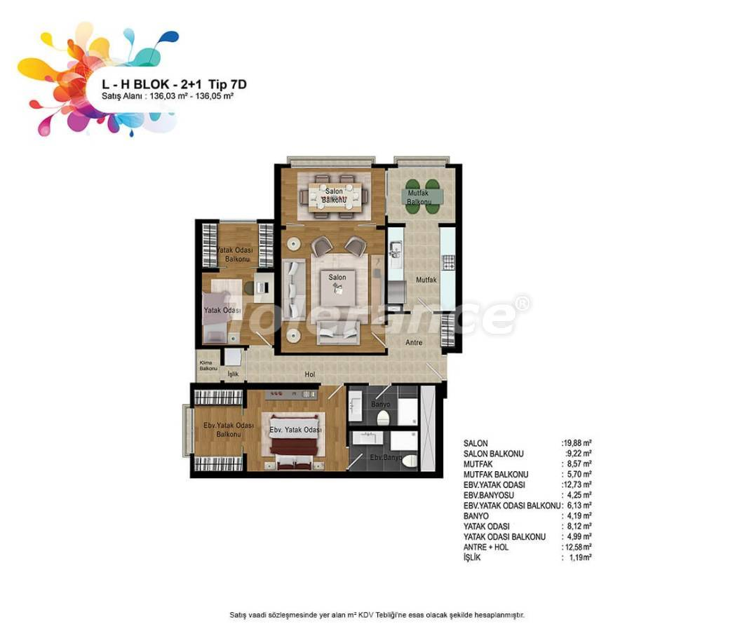 New apartments in Bahcesehir, Istanbul with installments up to 50 months - 36166   Tolerance Homes