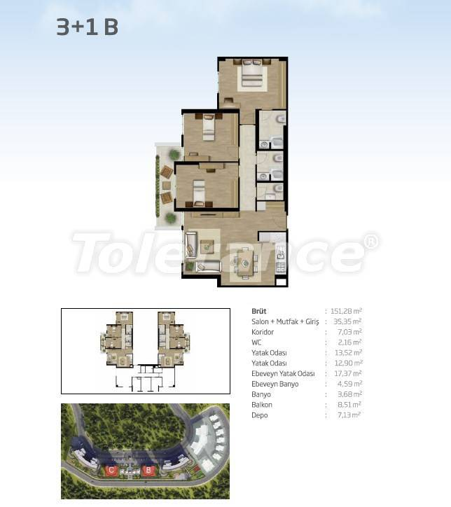 Apartments in Bahçeşehir, Istanbul from the developer with a unique panoramic view - 36102 | Tolerance Homes