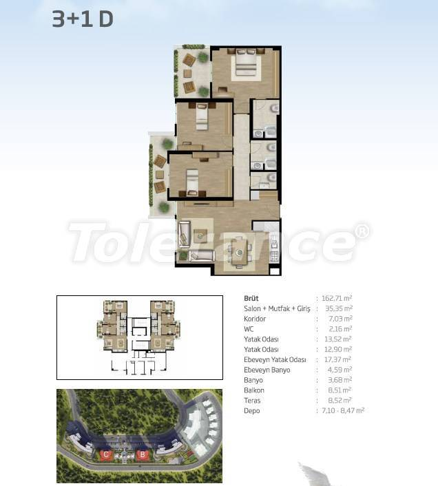 Apartments in Bahçeşehir, Istanbul from the developer with a unique panoramic view - 36104 | Tolerance Homes