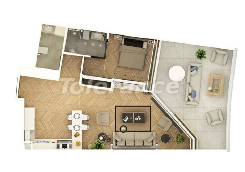 Luxury apartments in Istanbul in a complex managed by a famous hotel chain - 27541   Tolerance Homes
