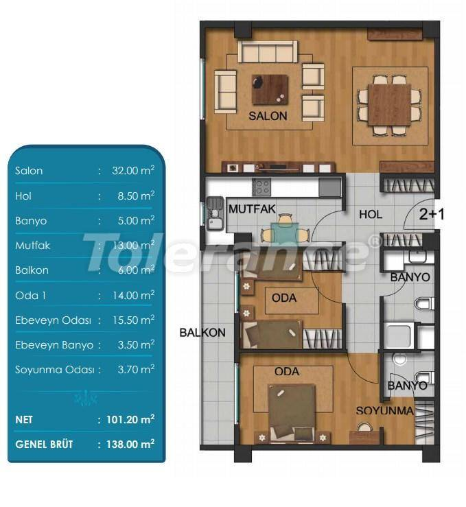 Spacious apartments in Beylikduzu, Istanbul with installments from the developer - 27295 | Tolerance Homes