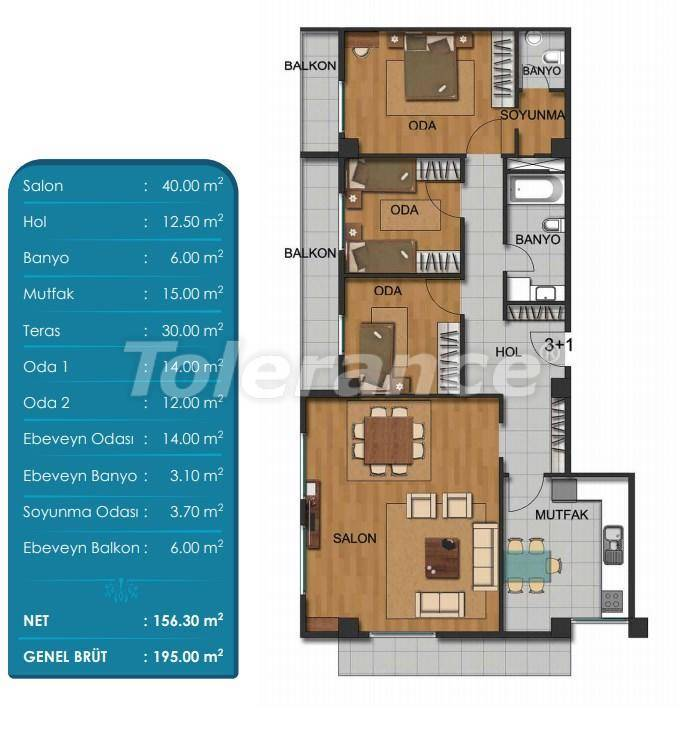 Spacious apartments in Beylikduzu, Istanbul with installments from the developer - 27296 | Tolerance Homes