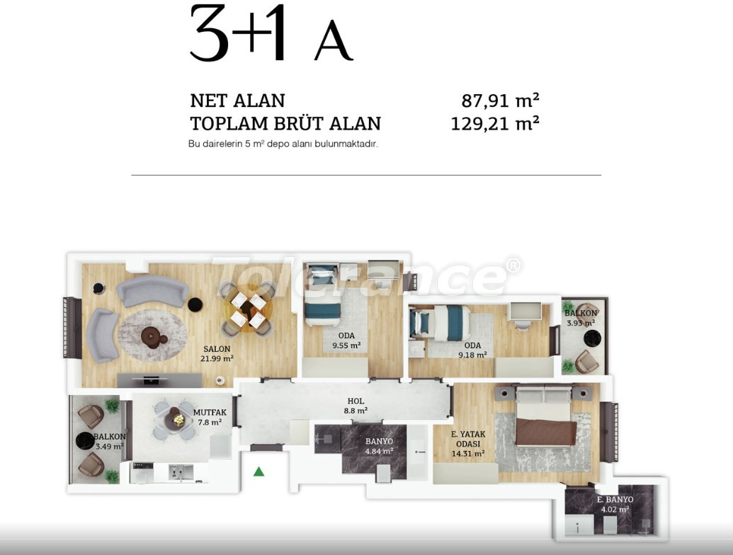 Modern apartments in the center of Istanbul by  installments from the developer - 38964 | Tolerance Homes