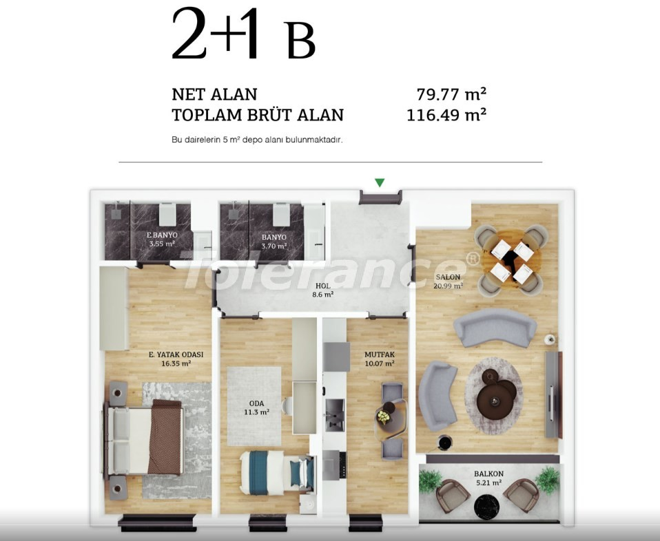 Modern apartments in the center of Istanbul by installments from the developer - 38962 | Tolerance Homes