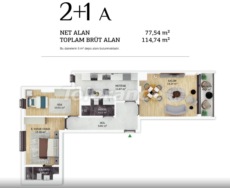 Modern apartments in the center of Istanbul by installments from the developer - 38961 | Tolerance Homes