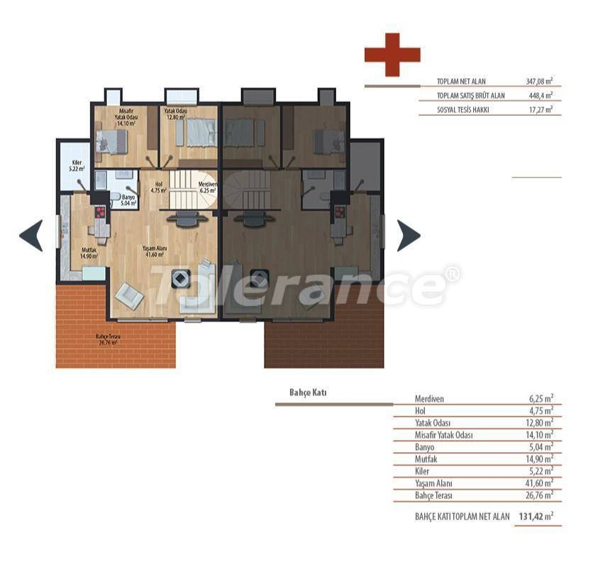 Luxury villas in Istanbul in a complex with a swimming pool - 27236   Tolerance Homes