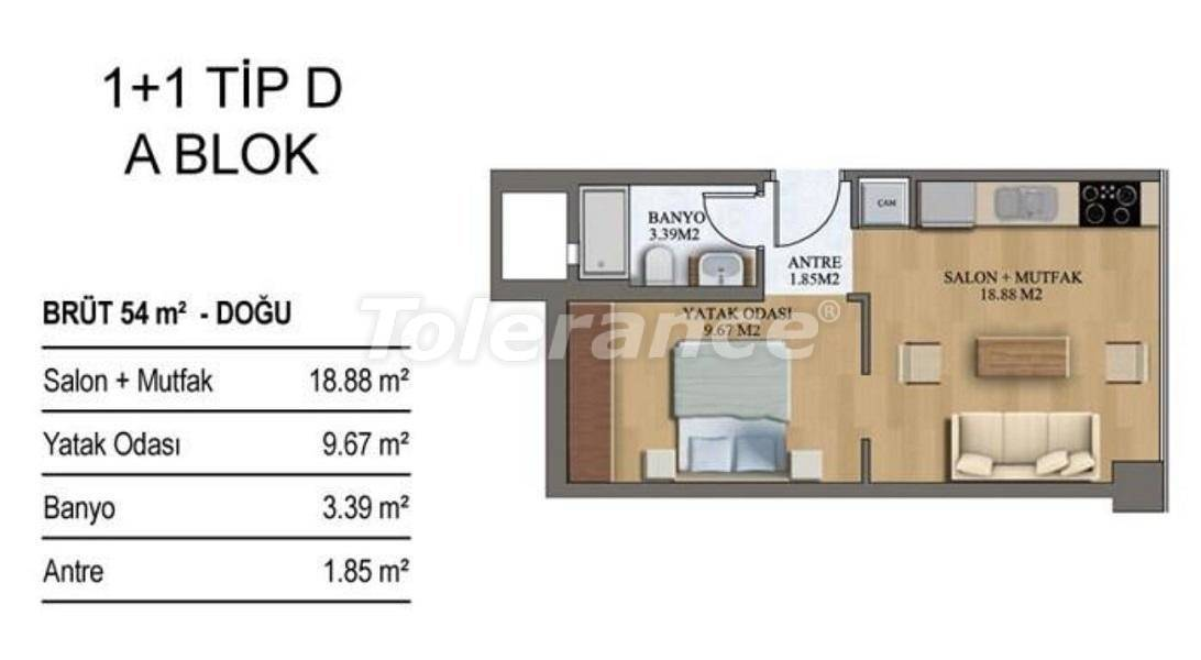 New apartments in Istanbul in a complex with rich infrastructure from the developer - 27206   Tolerance Homes