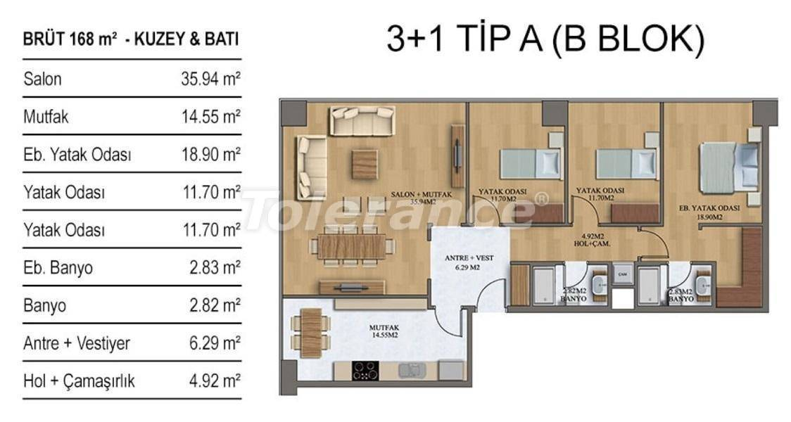 New apartments in Istanbul in a complex with rich infrastructure from the developer - 27209   Tolerance Homes