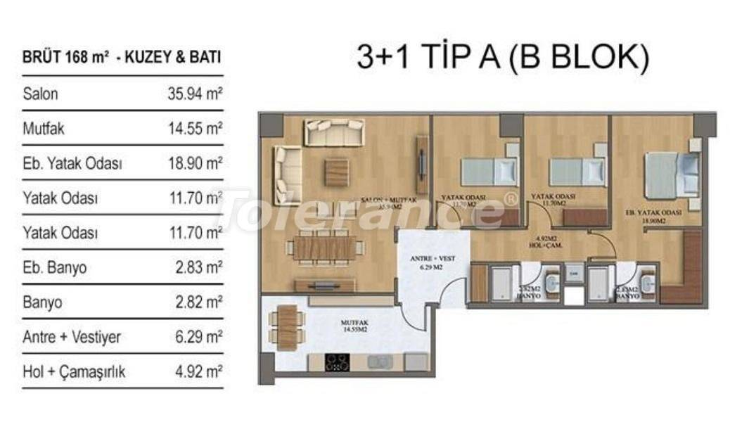 New apartments in Istanbul in a complex with rich infrastructure from the developer - 27208   Tolerance Homes
