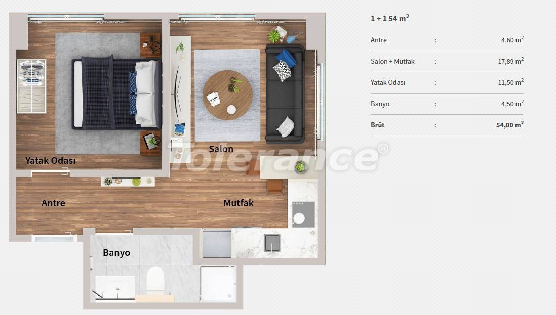 Apartments in the center of Istanbul in a complex with the concept of a hotel by installments from the developer - 27063   Tolerance Homes