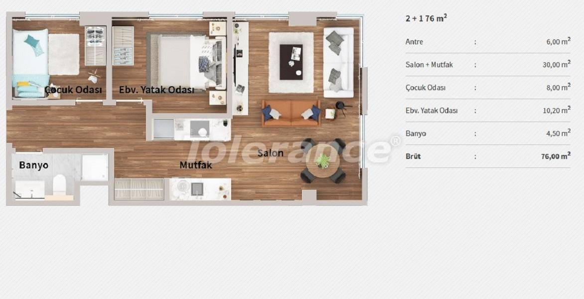 Apartments in the center of Istanbul in a complex with the concept of a hotel by installments from the developer - 27065   Tolerance Homes