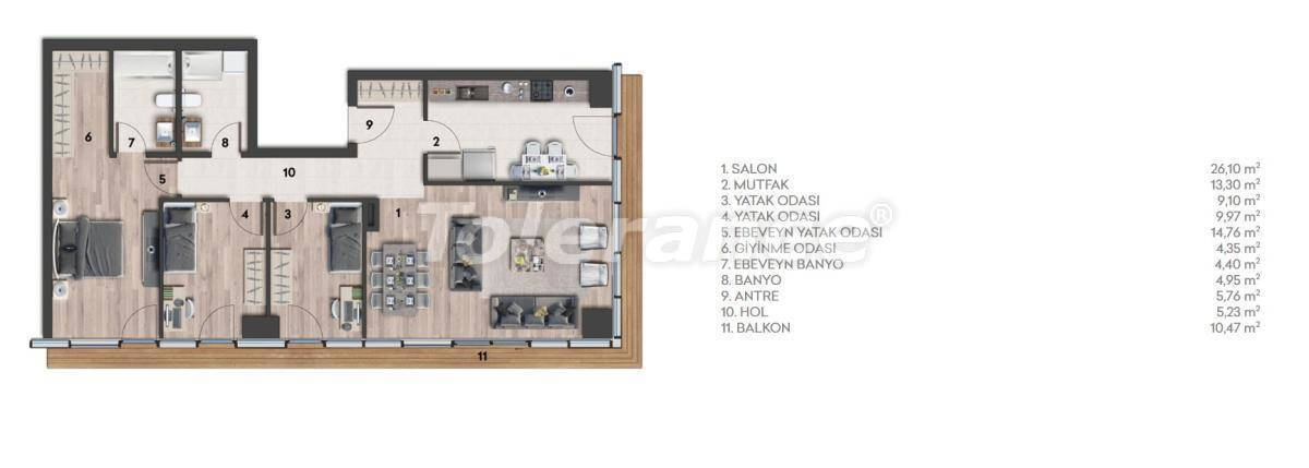 Apartments in Istanbul with sea view - 26973 | Tolerance Homes
