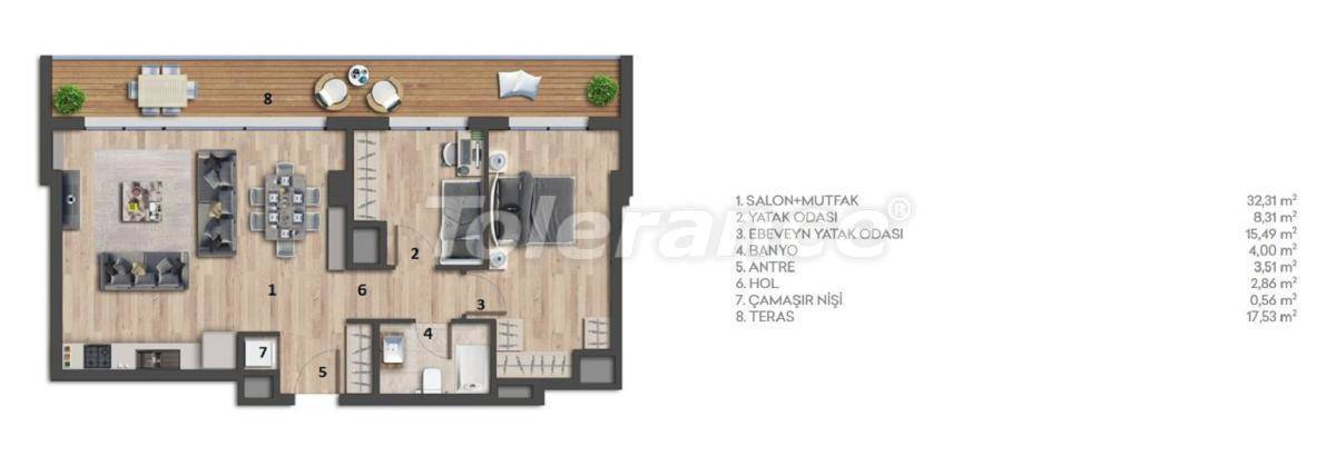Apartments in Istanbul with sea view - 26976 | Tolerance Homes