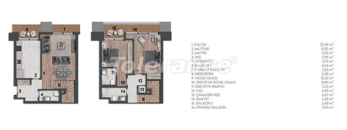 Apartments in Kartal, Istanbul in a complex with a rich infrastructure and a stunning sea view - 26970 | Tolerance Homes