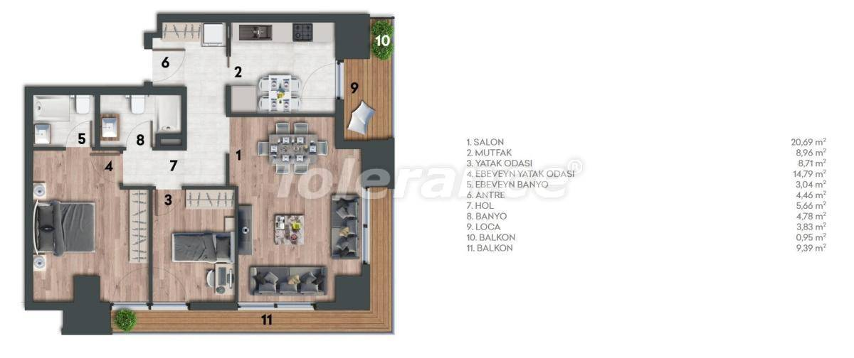 Apartments in Kartal, Istanbul in a complex with a rich infrastructure and a stunning sea view - 26978 | Tolerance Homes