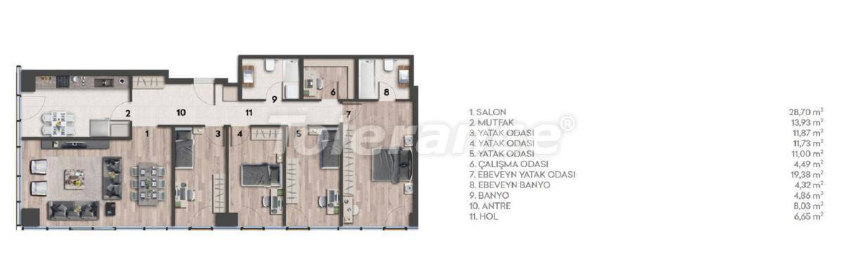 Apartments in Kartal, Istanbul in a complex with a rich infrastructure and a stunning sea view - 26977 | Tolerance Homes