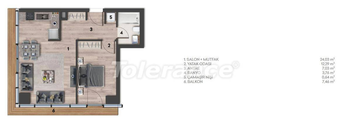 Apartments in Kartal, Istanbul in a complex with a rich infrastructure and a stunning sea view - 26968 | Tolerance Homes