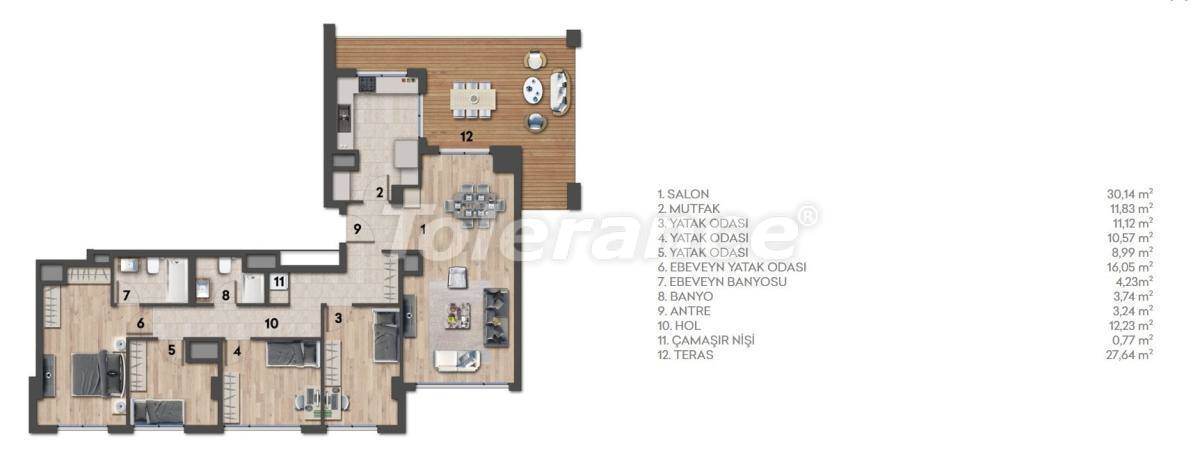 Apartments in Kartal, Istanbul in a complex with a rich infrastructure and a stunning sea view - 26979 | Tolerance Homes