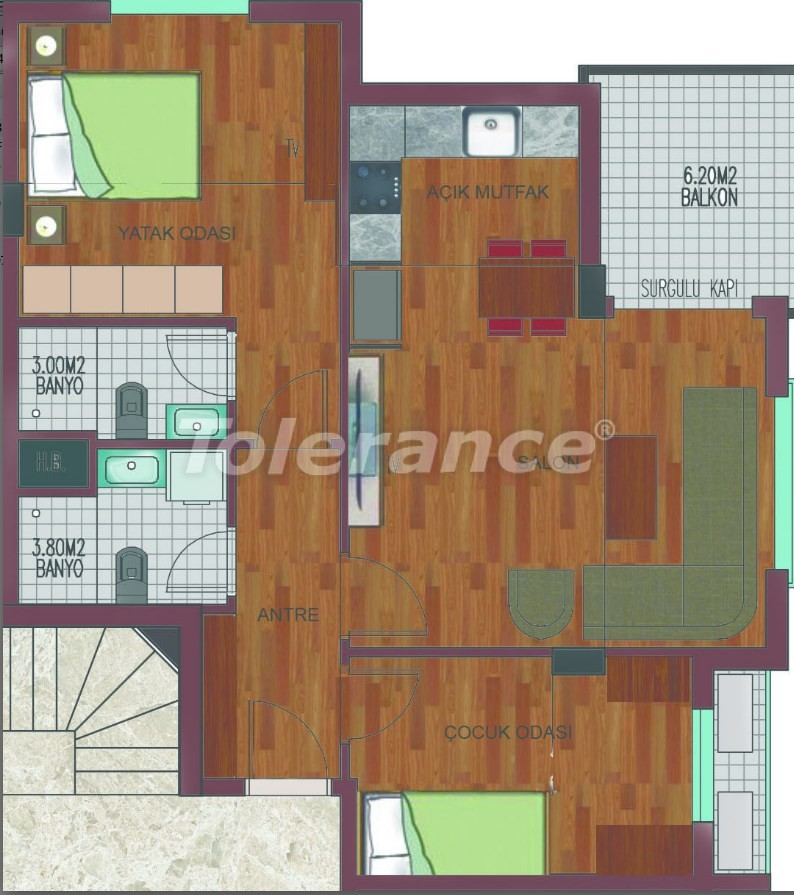 Spacious apartments in Hurma, Konyaalti in a luxury complex from the reliable developer - 26759   Tolerance Homes