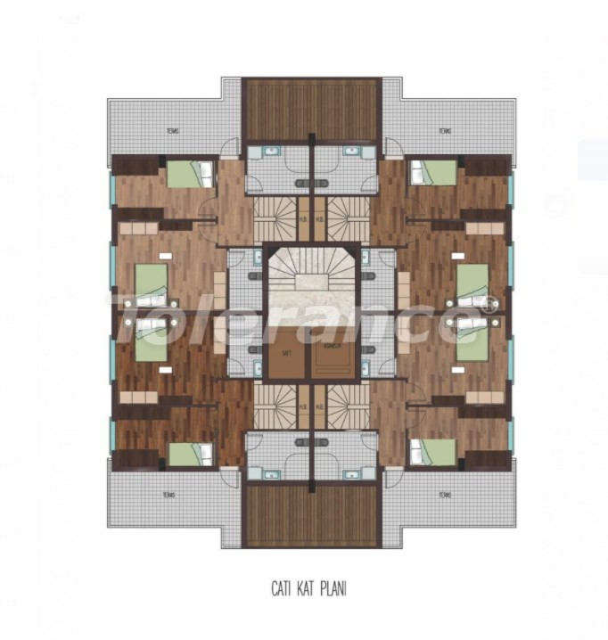 Spacious apartments in Hurma, Konyaalti in a luxury complex from the reliable developer - 31798   Tolerance Homes