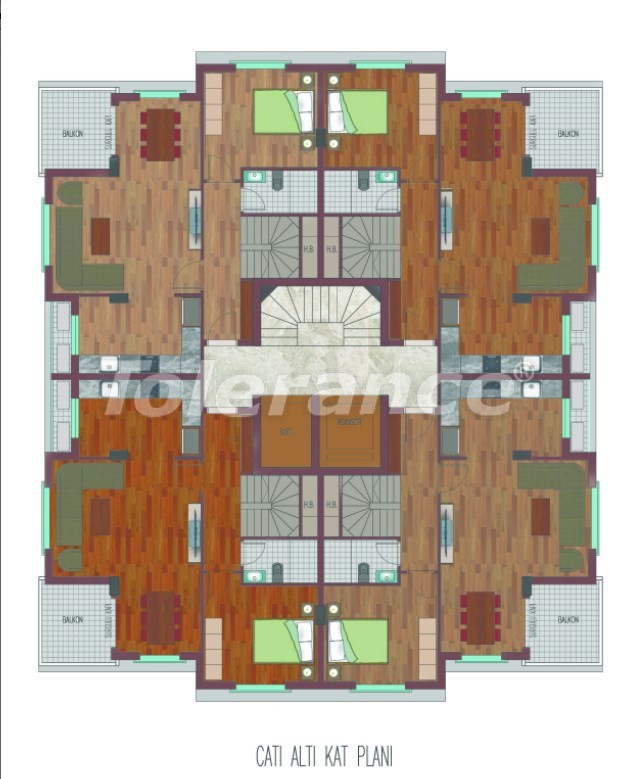 Spacious apartments in Hurma, Konyaalti in a luxury complex from the reliable developer - 26761   Tolerance Homes