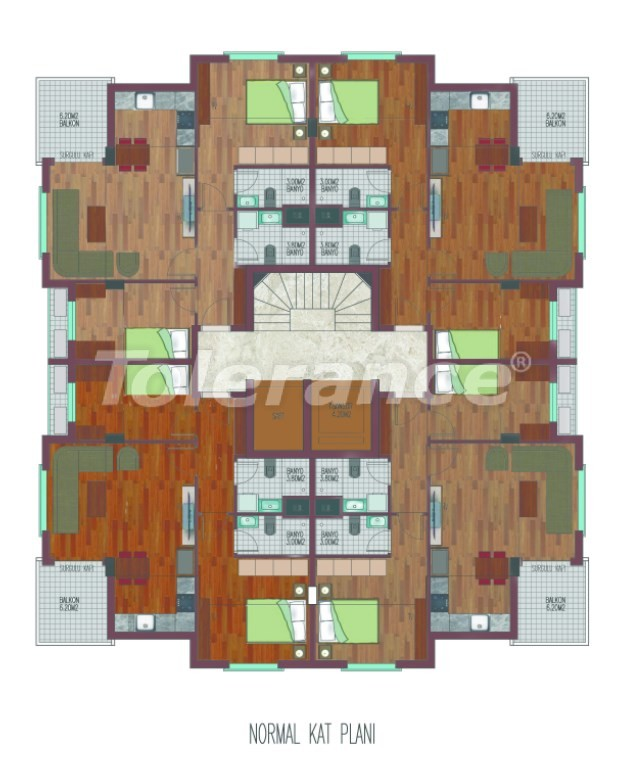 Spacious apartments in Hurma, Konyaalti in a luxury complex from the reliable developer - 26763   Tolerance Homes