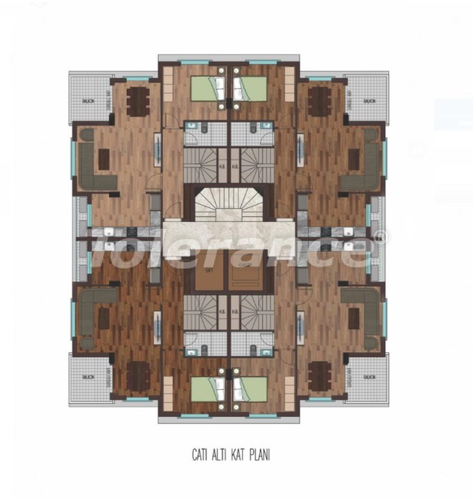 Spacious apartments in Hurma, Konyaalti in a luxury complex from the reliable developer - 31797   Tolerance Homes