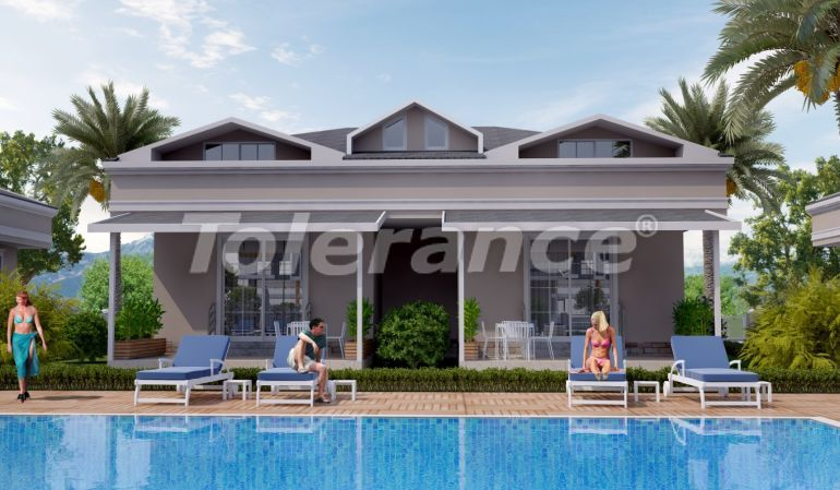 Two-bedroom apartments in Arslanbucak, Kemer in a complex with a swimming pool - 26856 | Tolerance Homes