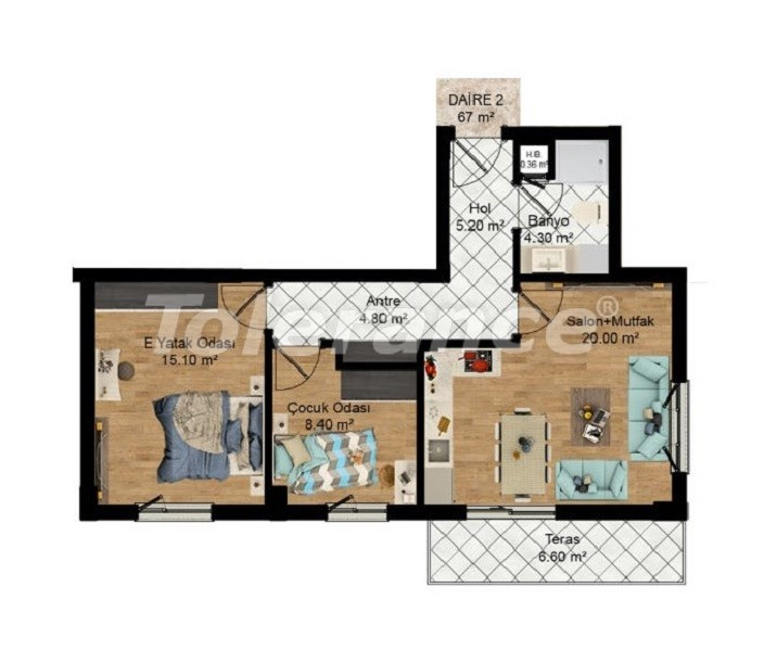 Profitable investments: apartments in Kepez, Antalya from the developer - 27581   Tolerance Homes