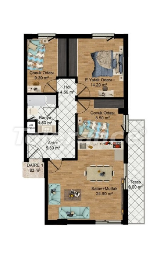Profitable investments: apartments in Kepez, Antalya from the developer - 27583   Tolerance Homes