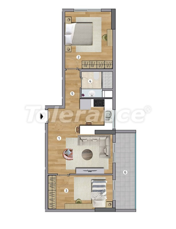 Spacious apartments in Esenyurt, Istanbul in a modern complex with installments up to 1 year - 27600 | Tolerance Homes