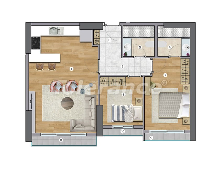 Spacious apartments in Esenyurt, Istanbul in a modern complex with installments up to 1 year - 27598 | Tolerance Homes