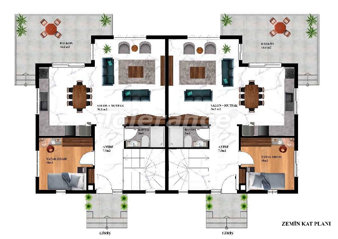 Inexpensive modern villas in Kargicak, Alanya in a complex with a pool by installments from the developer - 27607   Tolerance Homes
