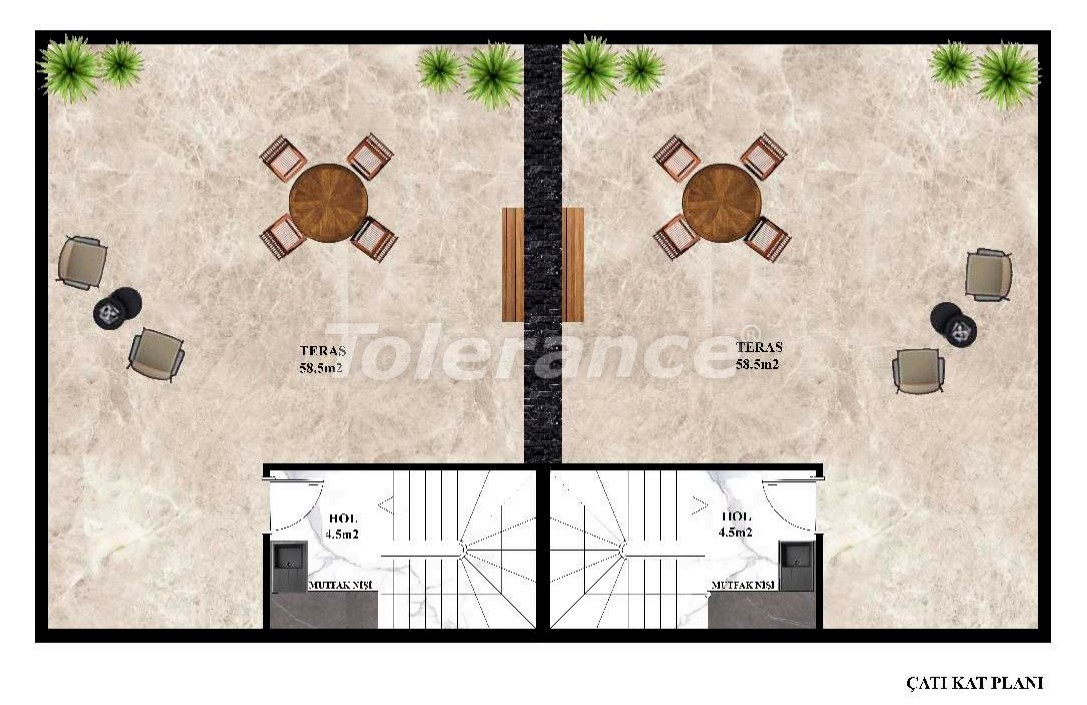 Inexpensive modern villas in Kargicak, Alanya in a complex with a pool by installments from the developer - 27609   Tolerance Homes