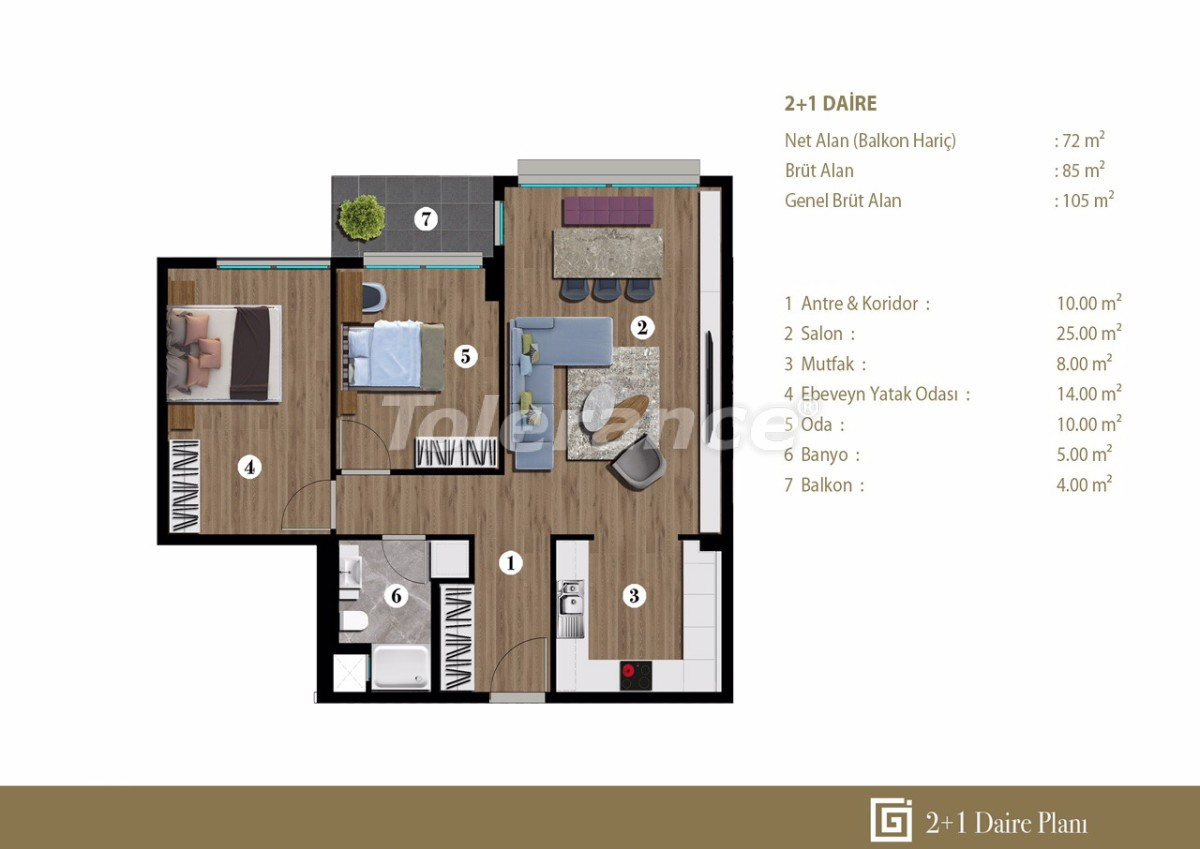Apartments in Izmir in a modern complex from the developer - 27669 | Tolerance Homes