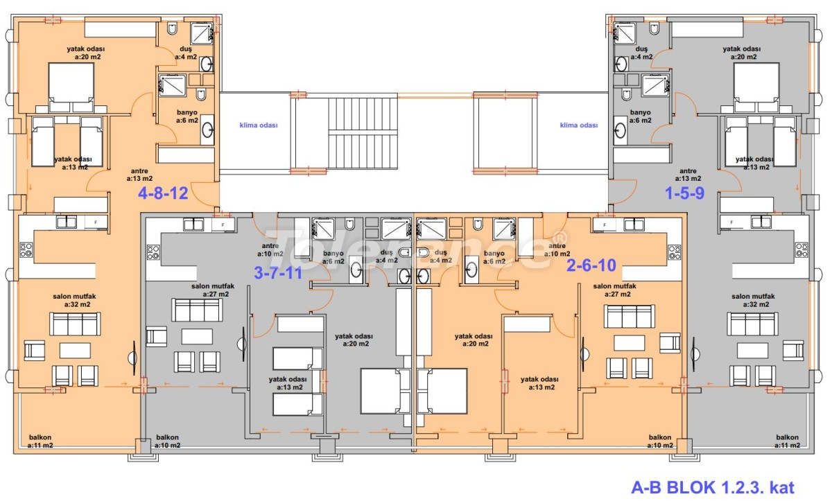 Luxury modern apartments in Kargicak, just 300 meters from the sea - 27755 | Tolerance Homes