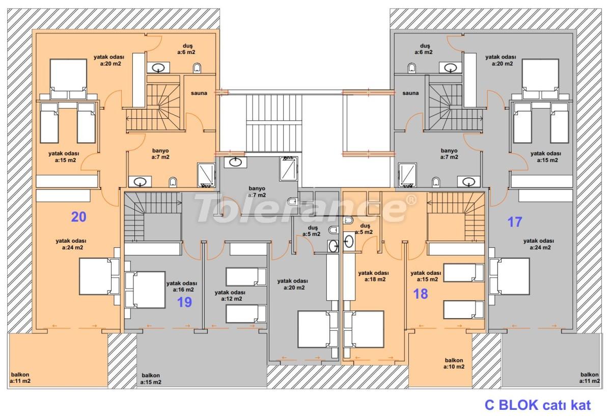 Luxury modern apartments in Kargicak, just 300 meters from the sea - 27759 | Tolerance Homes