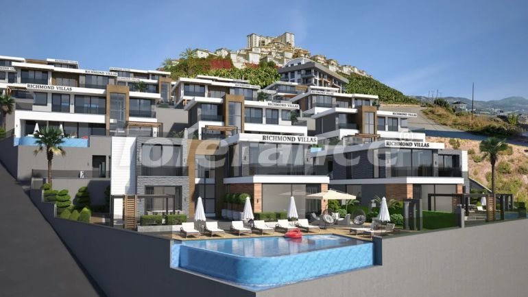 Luxury villas in Alanya with garage and private pool - 27978   Tolerance Homes