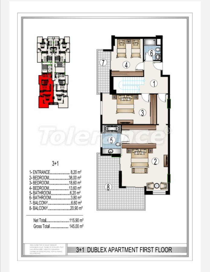 Luxury complex in the center of Mahmutlar, just 50 meters to the beach - 28189   Tolerance Homes