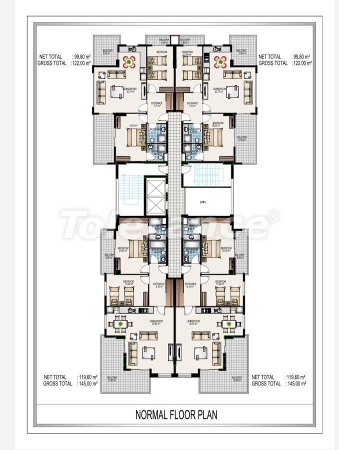 Luxury complex in the center of Mahmutlar, just 50 meters to the beach - 28193   Tolerance Homes
