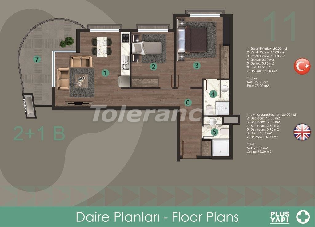 Modern apartments in Oba,  from the reliable developer with installments - 28721 | Tolerance Homes