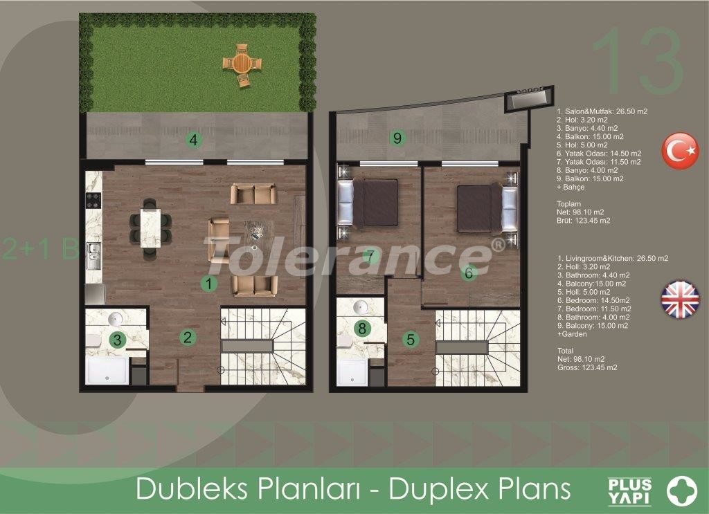 Modern apartments in Oba,  from the reliable developer with installments - 28722 | Tolerance Homes