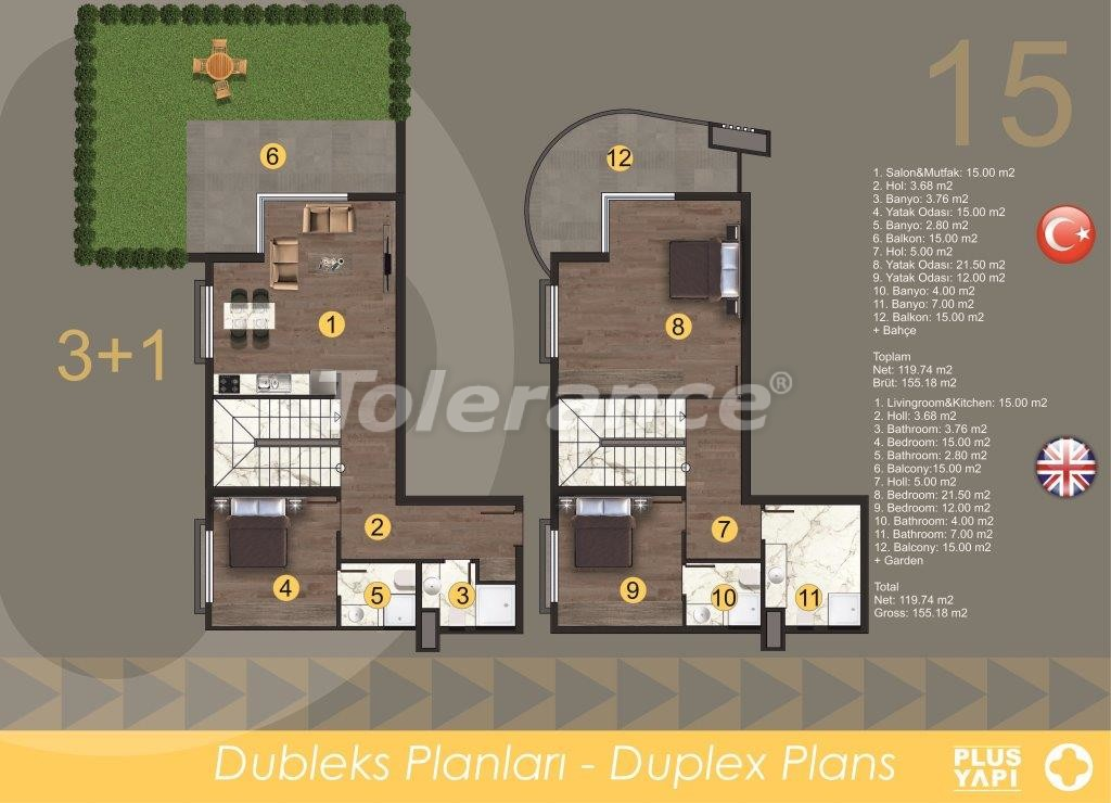Modern apartments in Oba,  from the reliable developer with installments - 28724 | Tolerance Homes